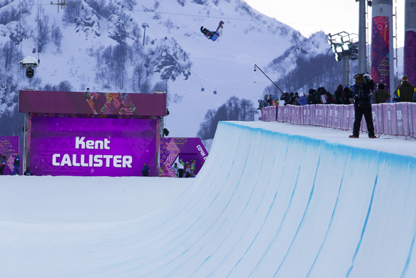 Bend's Kent Callister airs it out on the halfpipe at the recent Sochi Olympics. Callister, 18, finished ninth overall.