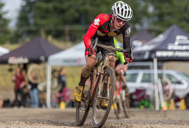 Cameron Beard, 15, rolls to 10th place at a recent Cross Crusade race.