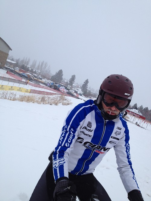 Carl Decker says: Wear your ski helmet and goggles.