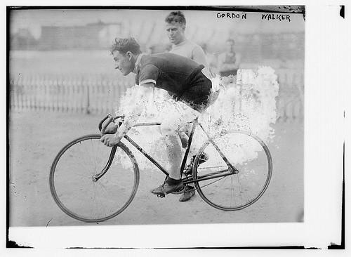 Gordon Walker on bike