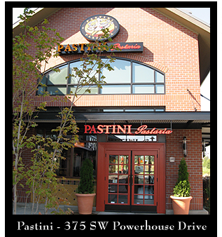 Located in the center of the Old Mill, right across from Les Schwab amphitheater, Pastini is perfectly situated for dining before or after concerts and Old Mill events.