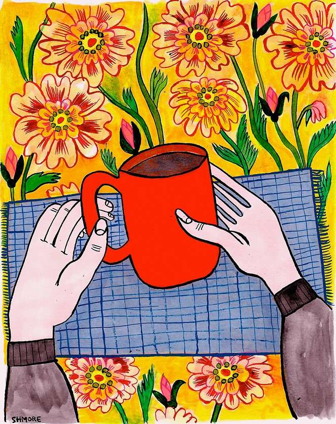 New work from Sarah Helen More at Townshend's Tea House debuts during First Friday. - SARAH HELEN MORE