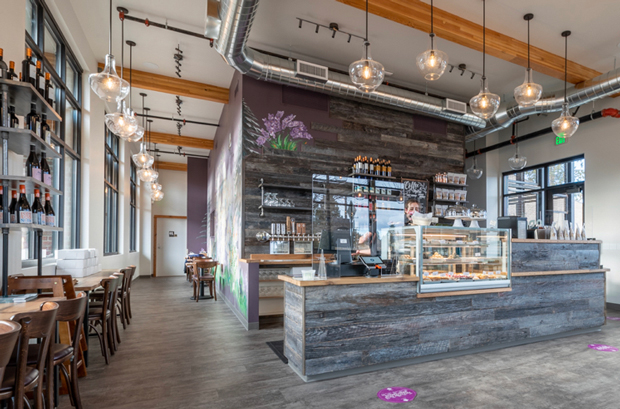 The new retail space on Newport Avenue is bright, airy and inviting.
