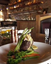 Oscar filet at Brickhouse, now located downtown at the old Firehall, 5 NW Minnesota Ave.