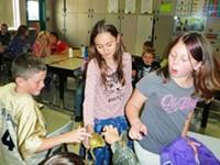 La Pine students learn about amphibians