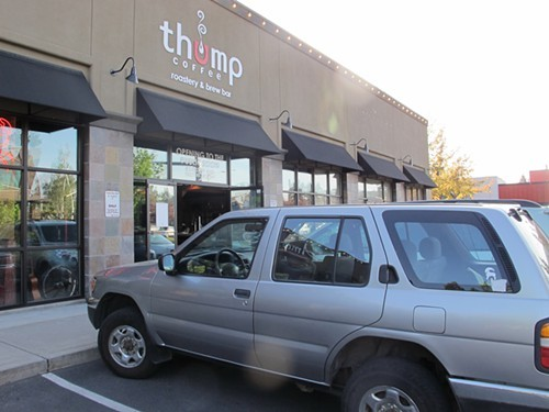 The Thump Coffee roastery at NW Bond St. and NW Franklin Ave. isnt open to the public yet--maybe soon, though.