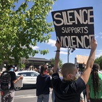 Hundreds Gather, Largely Masked, for a Black Lives Matter Rally in Downtown Bend
