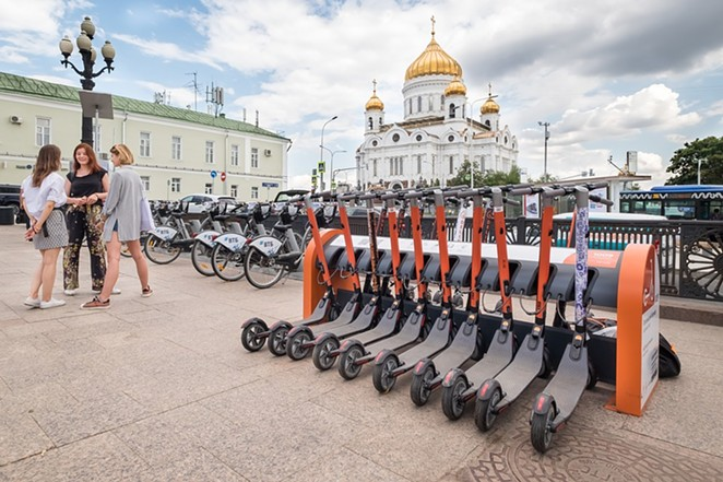 An example of public scooters in Moscow, Russia. - PIXABAY