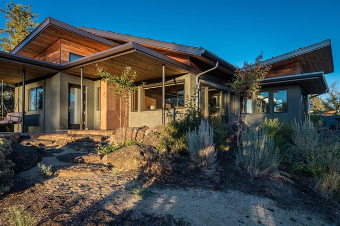 "The exterior of the award-winning ""Desert Rain"" house designed by architect Al Tozer and built by 