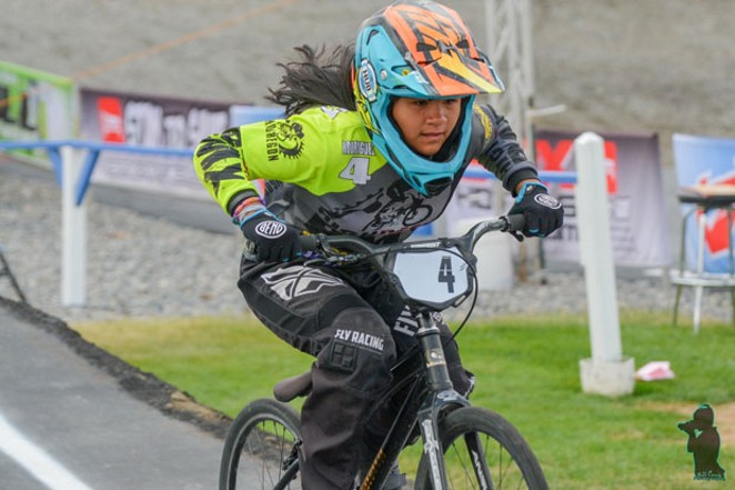 Sophia Rodriguez lives up to her nickame by leading the pack. - GREAT NORTHWEST NATIONALS