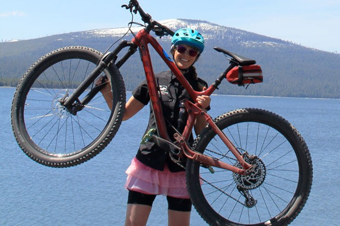 Combining gravel riding and paddleboarding makes for a fun female adventure. - K.M. COLLINS