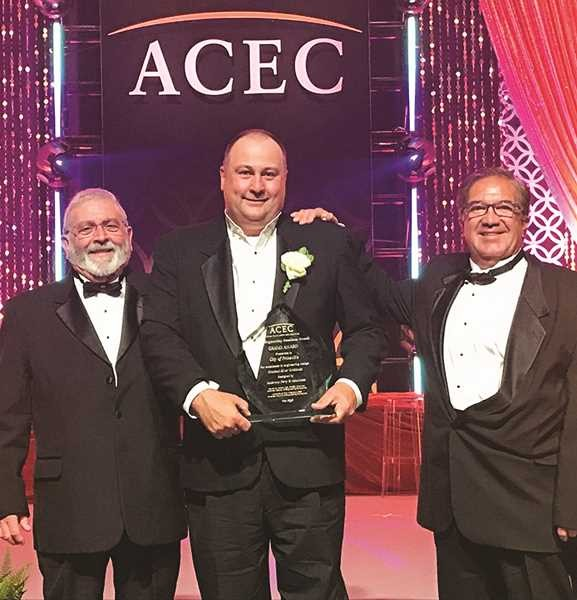 Crook County Commissioner Brian Barney, Engineer Eric Klaan, City Manager Steve Forrester receive Grand Award from ACEC - CITY OF PRINEVILLE