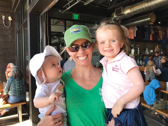 Carrie Douglass with daughters, Cassie and Cora. - SUBMITTED
