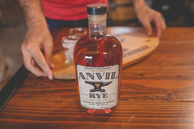 Foundry Four's first spirit, Anvil Rye Batch #1, is available now. - TAMBI LANE PHOTOGRAPHY