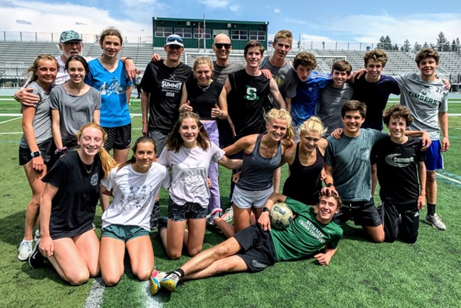 The Summit High School cross country team. - COURTESY ANDY FLEMING