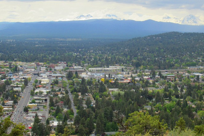 View from Pilot Butte Park in Bend. - WIKIMEDIA COMMONS