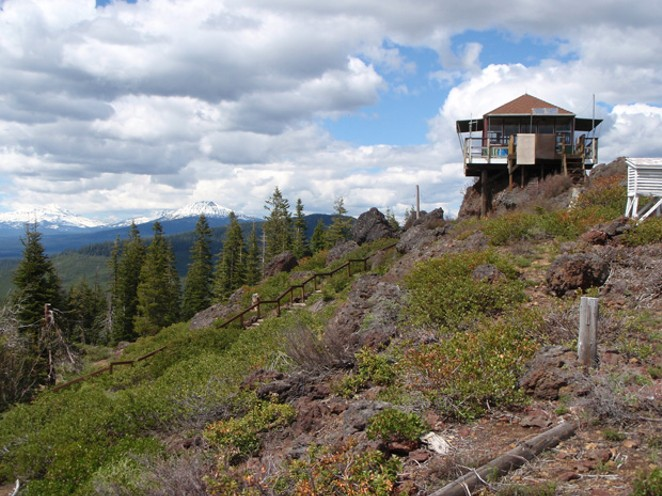 The Round Mountain fire lookout. - COURTESY JOEY HODGSON