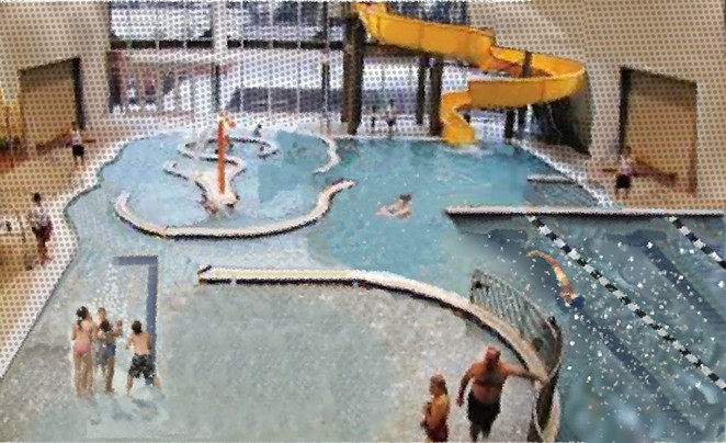 An artist's rendering of what the expansion of the Cascade Swim Center could have looked like if the $40 million bond had passed. - COURTESY REDMOND AREA PARKS & RECREATION DISTRICT