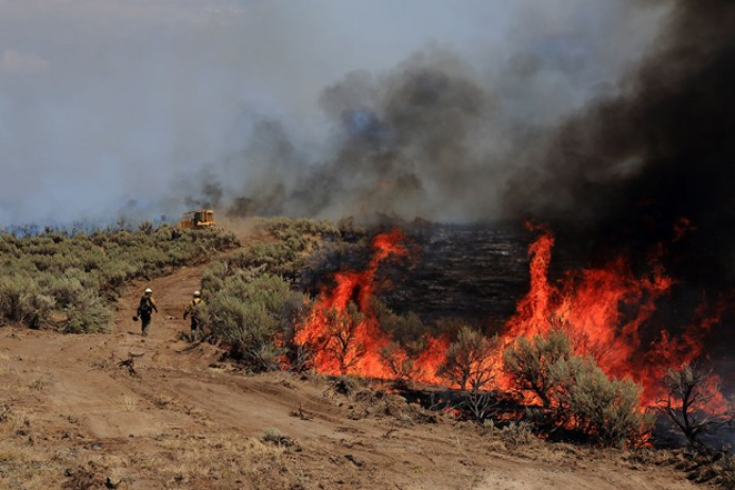 Since 2014, 9 million acres of sagebrush have been permanently lost to fires like the Artesian Fire in 2018. - AUSTIN CATLIN, BLM
