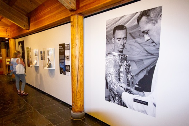 """Museum visitors can take in the """"Moon Country"""" exhibit through November. - DARRIS HURST"""