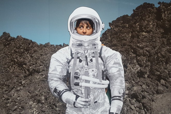 Writer Cari Brown gets to picture herself as an astronaut. - CHRISTIAN BROWN