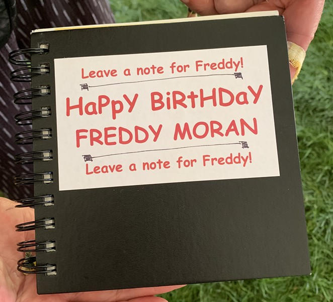 Moran's Birthday Booklet; filled with notes of well wishes - TYLER ANDERSON