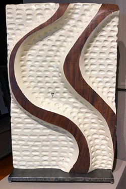 Waves, walnut sculpture by Michael Bryant. - TEAFLY PETERSON
