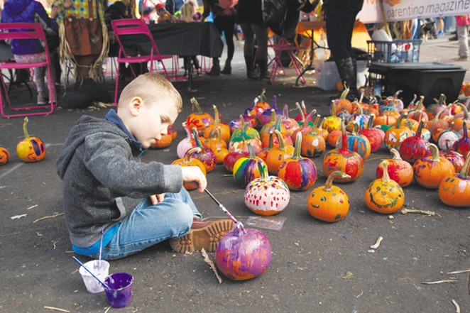 Let the creative juices flow –pumpkin painting at Bend Fall Festival October 4-6. - BRIAN BECKER
