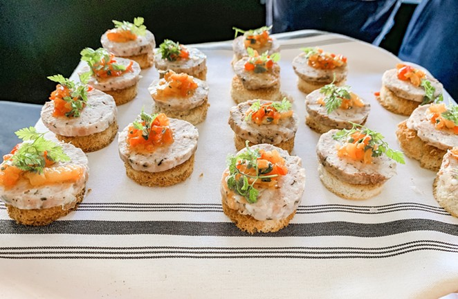 Currents at the Riverhouse's crowd-pleasing pate. - NANCY PATTERSON
