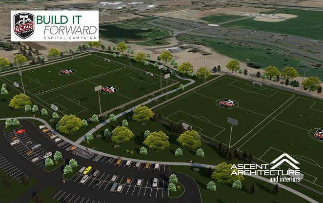 A glimpse of what the BFCT Complex could one day look like. - BEND FC TIMBERS