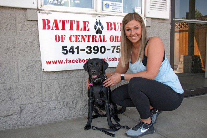Elizabeth Harms and Tinkerbell at their first training with Bryan Castleberry at Cascadia Canine Training School. - KEELY DAMARA