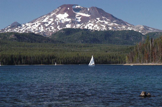 This U.S. Forest Service photo shows Elk Lake and South Sister at the Deschutes National Forest that the agency manages. - U.S. FOREST SERVICE