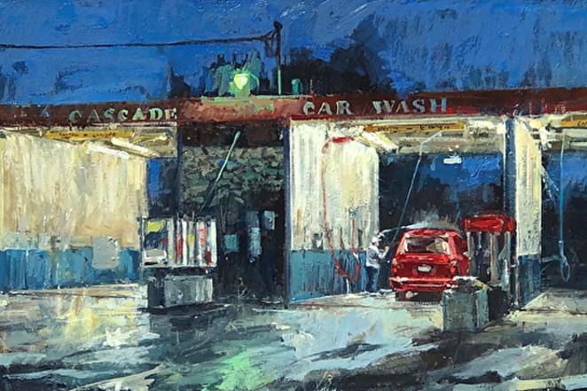 Donald Yatomi's painting, Carwash 002. - DONALD YATOMI