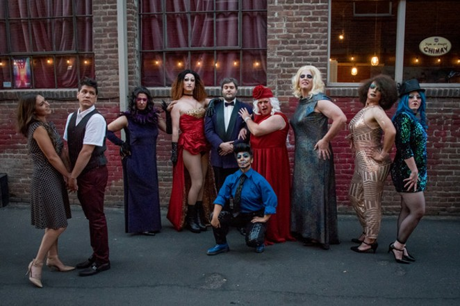 """Part of the cast of """"La Cage aux Folles"""" — the 2019 production of Theater in the Park. - CAROL STERNKOPF"""