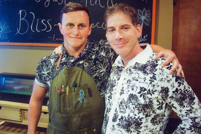 Executive Chef Emerson Jespersen, left, and Tomo owner Jeremy Letter strive to source and serve only sustainable seafood at their south Bend restaurant. - RICHARD SITTS