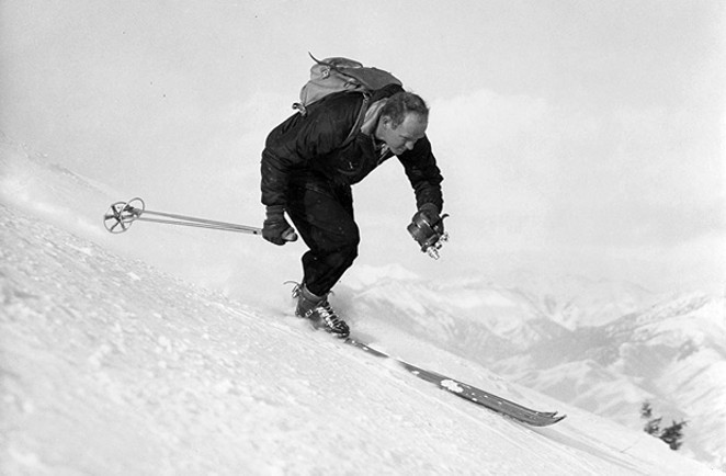 "Warren Miller in ""Ski Bum: the Warren Miller Story - PHOTO COURTESY OF WARNER"