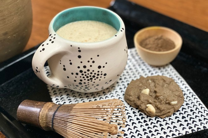 Get your toast on with some hojicha tea and white chocolate chip cookies. Yum! - LISA SIPE