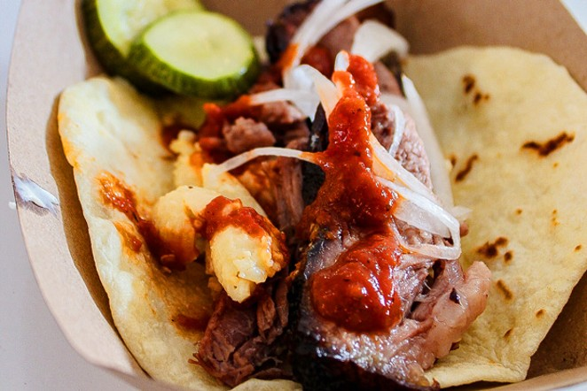 Brisket and Mac 'n' Cheese Tacos. - NANCY PATTERSON