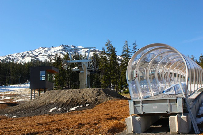 First Rays carpet tube and Early Riser chair are two new additions added this year by Mt. Bachelor to help beginners learn to ski and snowboard. - LAUREL BRAUNS