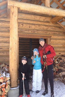 Local Bend kids, Oliver and Emma Jewett, enjoy a day at Meissner Shelter with their dad, Jeff Jewett. - SARAH JEWETT