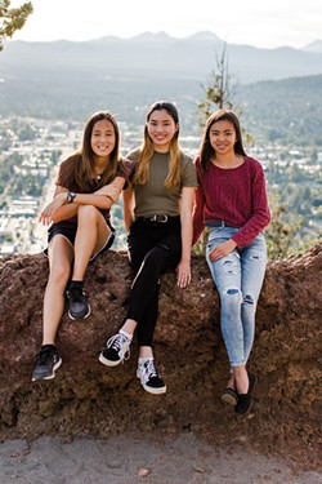 Hai Xing Lewis, Emily Krehbiel and Ava Dewey - NATALIE STEPHENSON