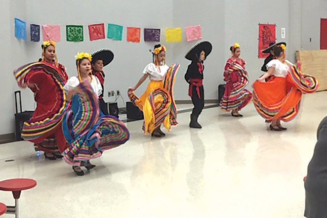 Students have the opportunity to dance in Ballet de Folklorico at Bear Creek Elementary, another grant-funded program. - COURTESY THE EDUCATION FOUNDATION