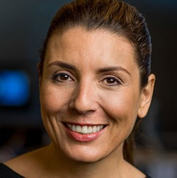 """Garcia-Navarro and her team on """"Weekend Edition Sunday"""" received a Gracie award in 2018 for their work covering the #MeToo movement. - STEPHEN BOSS / NPR"""