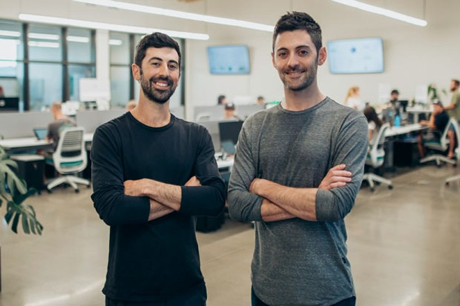 Brothers Ross, left, and Zach Lipson founded Dutchie—an ecommerce platform for cannabis dispensaries—two years ago in Bend. The start-up has helped facilitate over $140 million in sales for 450 stores across 18 states. - NICK HARSELL