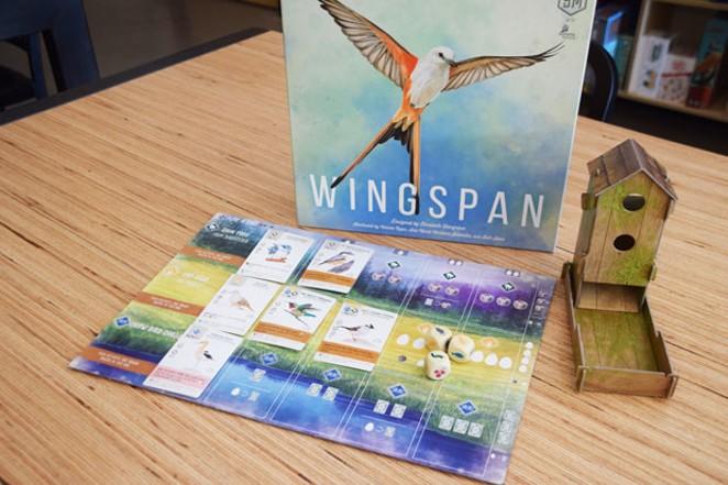 "Brian Evans says groups of birders have flocked in to play ""Wingspan."" - ISAAC BIEHL"