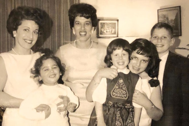 One from the vault: Family members, from left: Gert's sister Eva Labby and Labby's daughter Lise Raven, and Gert Boyle and her children Sally, Kathy and Tim. - COURTESY KATHY DEGGENDORFER