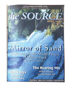 EVEN 20 YEARS AGO THE FUTURE OF MIRROR POND WASN'T CLEAR.