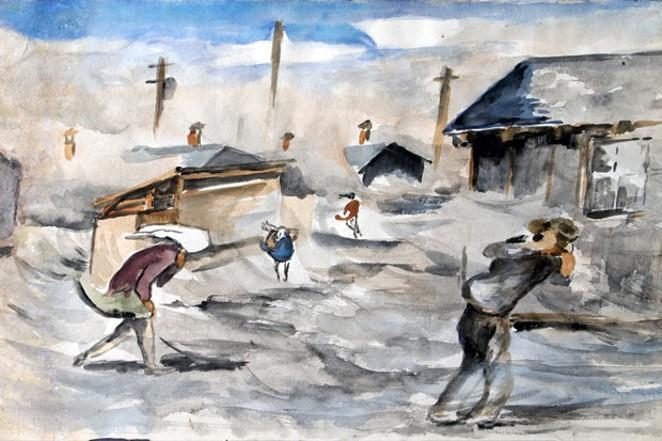 """Minidoka Sandstorm,"" by Takuichi Fujii. - COURTESY HIGH DESERT MUSEUM"