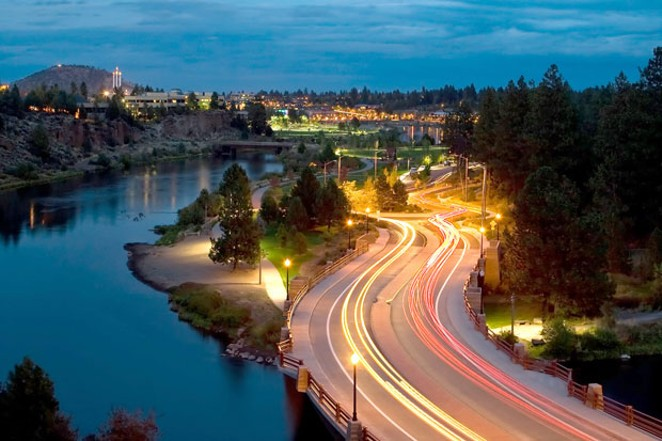 Drive, walk, bike, (or paddle!) east along the Deschutes River past Farewell Bend, the turn in the river for which the city was named. - COURTESY CITY OF BEND