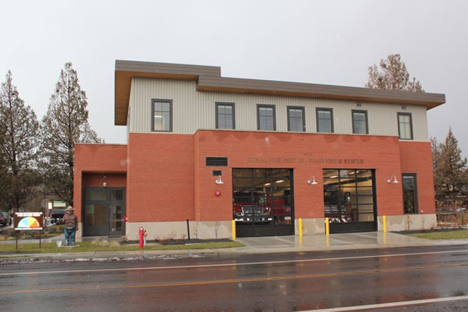 The new Tumalo Fire Station opened Dec. 3, replacing the station next door that opened in 1973. The station is located at 19850 Fourth St. and owned by Deschutes Rural Fire Protection District No. 2, but is staffed and equipped by Bend Fire and Rescue. The 8,636 square-foot station cost $3.97 million to build, and has four bays for a fire engine, ambulance, an interface wildland engine and other equipment. It was built with renewable energy features, a fire pole and a spacious kitchen and living room. The captain, engineer and firefighter on duty will each have their own room and bathroom—an upgrade from the dorm-style living quarters at the old station. - LAUREL BRAUNS